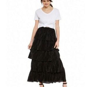 BB Dakota Black Tier All That Jazz Ruffle Skirt